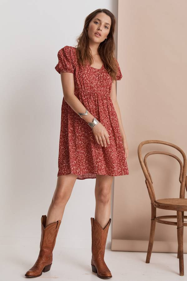 Saint helena shangrila mini dress ruby