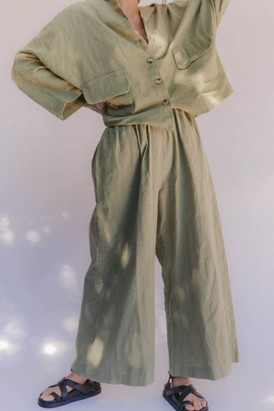 lullaby-club-linen-lounge-pant-olive-1